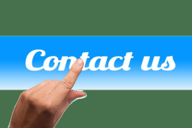 Contattaci via email o telefonicamente